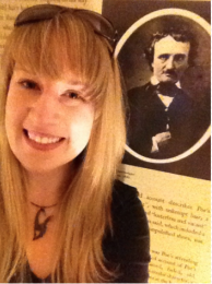 Sara in Baltimore with her main man, Poe.
